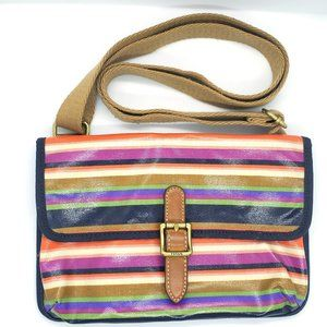 Fossil Striped Cross body Bag Envelope Colorful